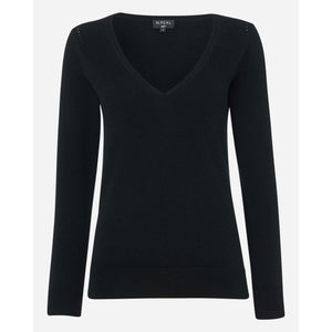 Women's V Neck Cashmere Sweater - Holly Goodhead Edition - By N. Peal - 007STORE