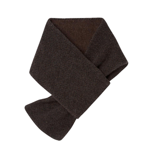 Brown & Grey Cashmere Herringbone Scarf l Official James Bond 007 Store