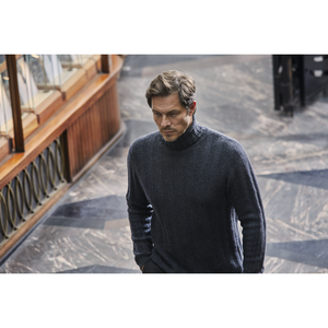 Chunky Rib Cashmere/Merino Roll Neck Sweater - Die Another Day Limited Edition By N.Peal - 007STORE