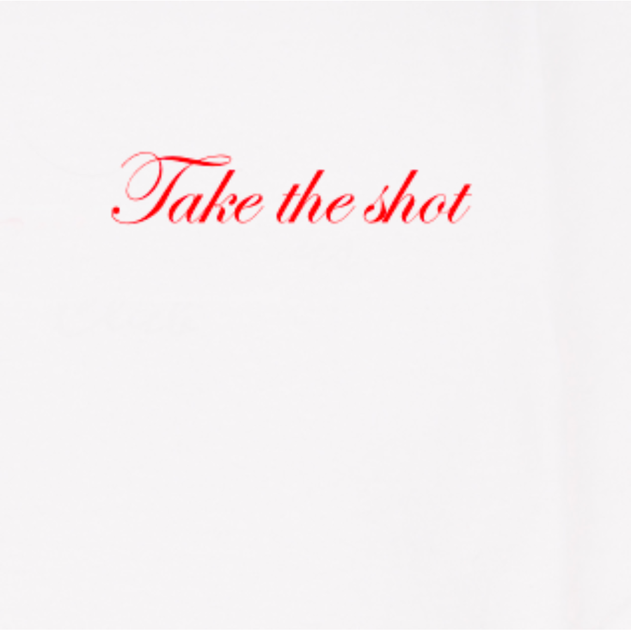 """Take The Shot"" Women's Embroidered T-Shirt - By Double Trouble Gang"