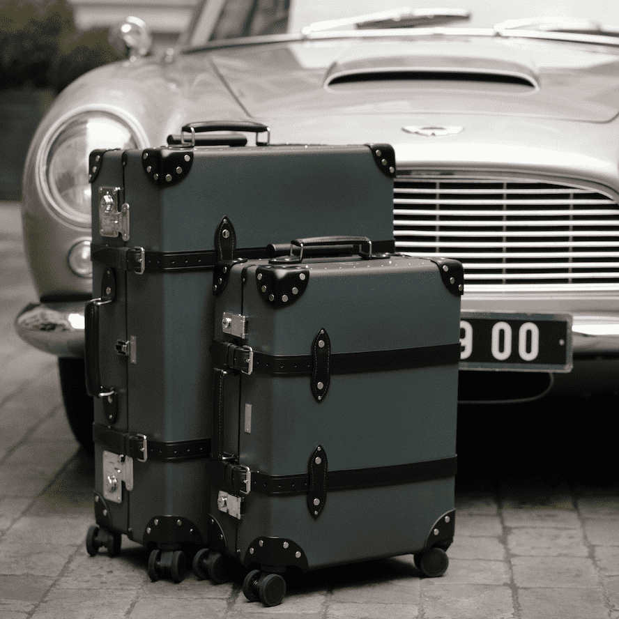 007 Vulcanised Fibreboard Carry-on Trolley Case - By Globe-Trotter - 007STORE