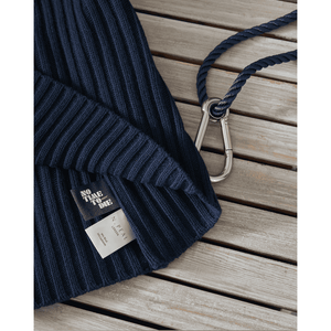 Navy Ribbed Army Sweater - No Time To Die Limited Edition - By N. Peal - 007Store