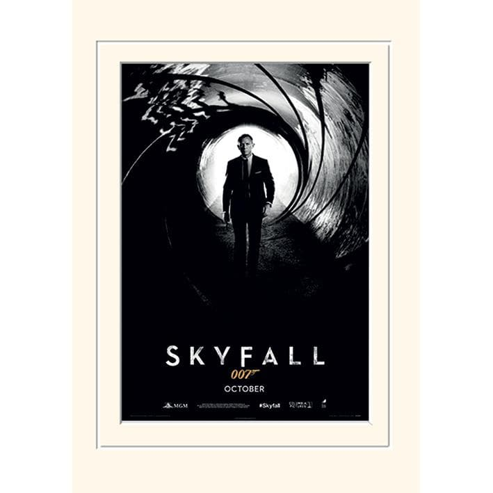 Skyfall (Teaser) 30 x 40CM Mounted Print - 007STORE