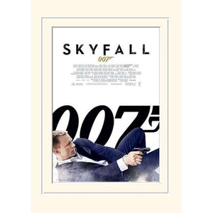 SKYFALL (WHITE) 30 x 40CM MOUNTED PRINT - 007STORE