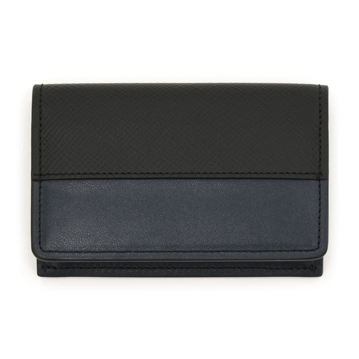 007 Navy Leather Card Holder By Globe-Trotter - 007STORE