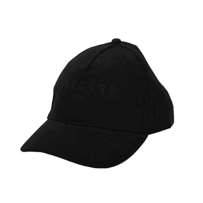 Spectre Embroidered Logo Baseball Cap - Black On Black - 007STORE
