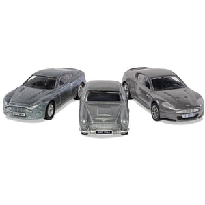 James Bond Aston Martin Model Car Trio - DB5, V12 Vanquish & DBS - By Corgi (Pre-order) - 007STORE