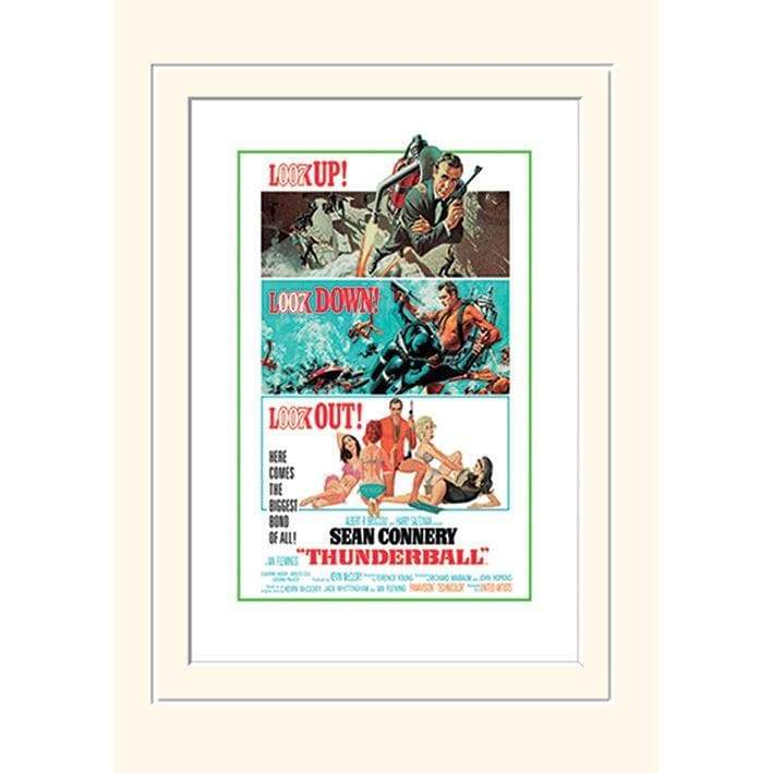 "Thunderball ""Look Up... Look Out!"" Mounted Art Print (30cm x 40cm) - 007STORE"