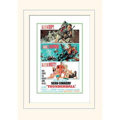 30 x 40cm MOUNTED PRINT - THUNDERBALL (LOOK OUT)