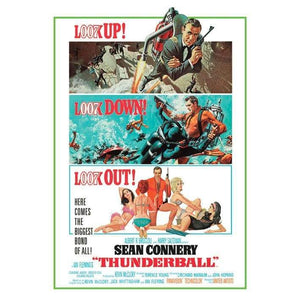 "Thunderball ""Look Up... Look Out!"" Art Canvas (85cm x 120cm) - 007STORE"