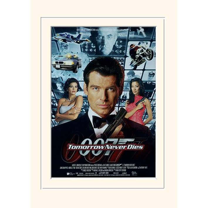 30 x 40cm MOUNTED PRINT - TOMORROW NEVER DIES