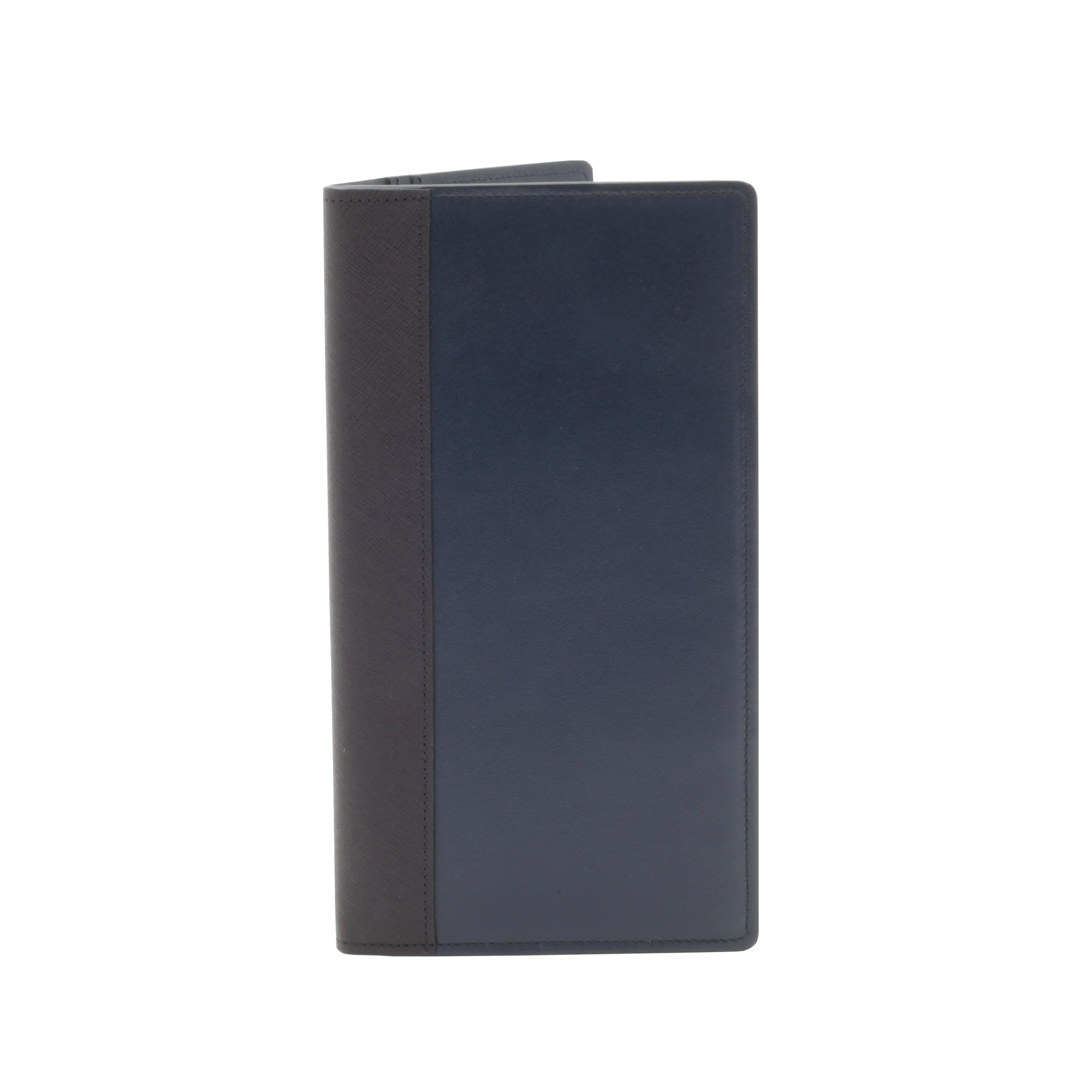 007 Navy Leather Travel Wallet By Globe-Trotter - 007STORE
