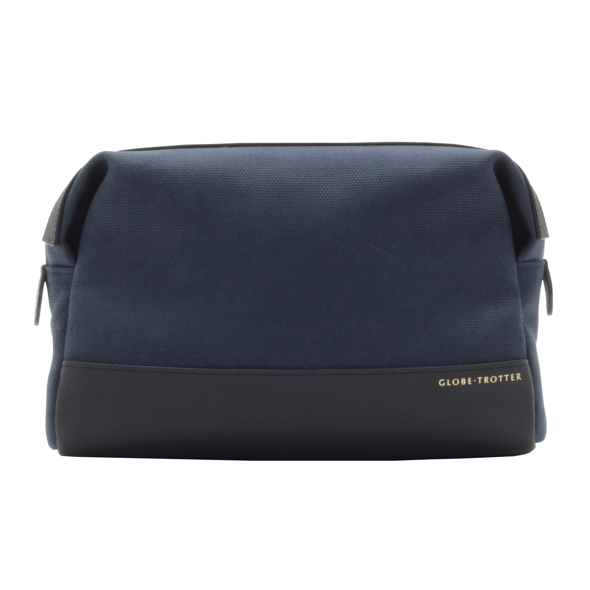 007 Navy Canvas & Leather Wash Bag - By Globe-Trotter - 007STORE