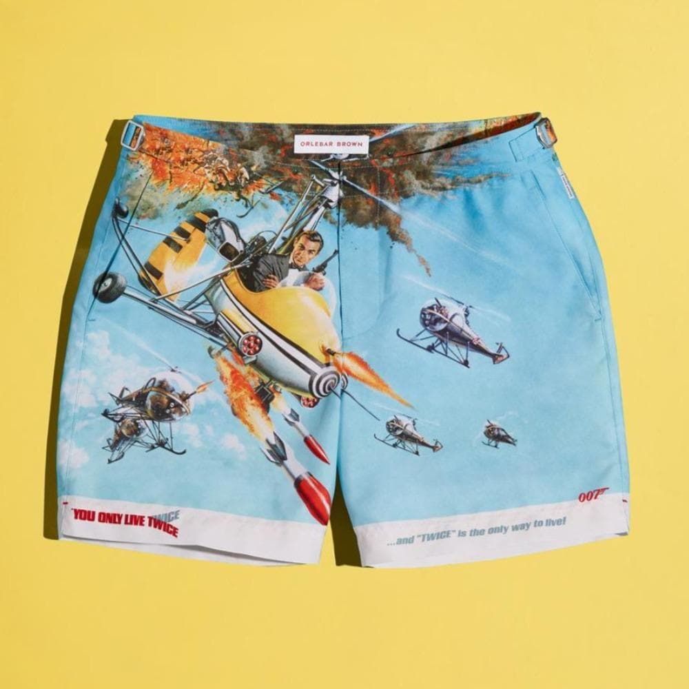 You Only Live Twice Graphic Bulldog Swim Shorts - By Orlebar Brown