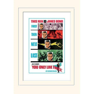 You Only Live Twice Teaser Mounted Print (30 x 40cm) - 007Store