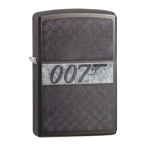 James Bond 007 Zippo Lighter - Iced Gray Checkerboard Case - 007STORE
