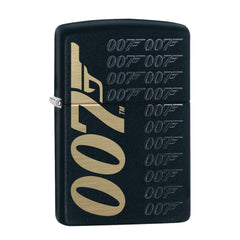 James Bond Zippo Lighter (007 Logo Pattern Black & Gold)