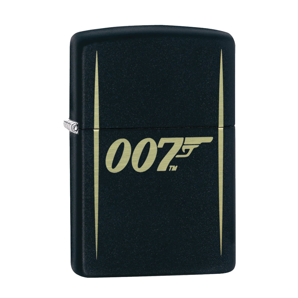 JAMES BOND ZIPPO LIGHTER (007 LOGO BLACK & GOLD)
