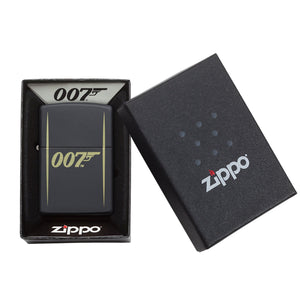 James Bond Zippo Lighter (007 Logo Black & Gold) - 007STORE