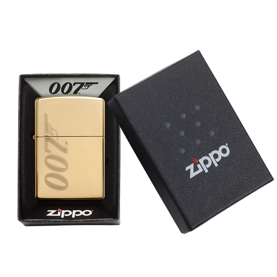 JAMES BOND ZIPPO LIGHTER (GOLD 007 LOGO)