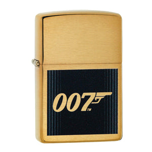 JAMES BOND ZIPPO LIGHTER (007 LOGO GOLD & BLACK) - 007STORE