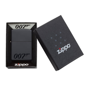James Bond Zippo Lighter (007 Logo Black) - 007Store