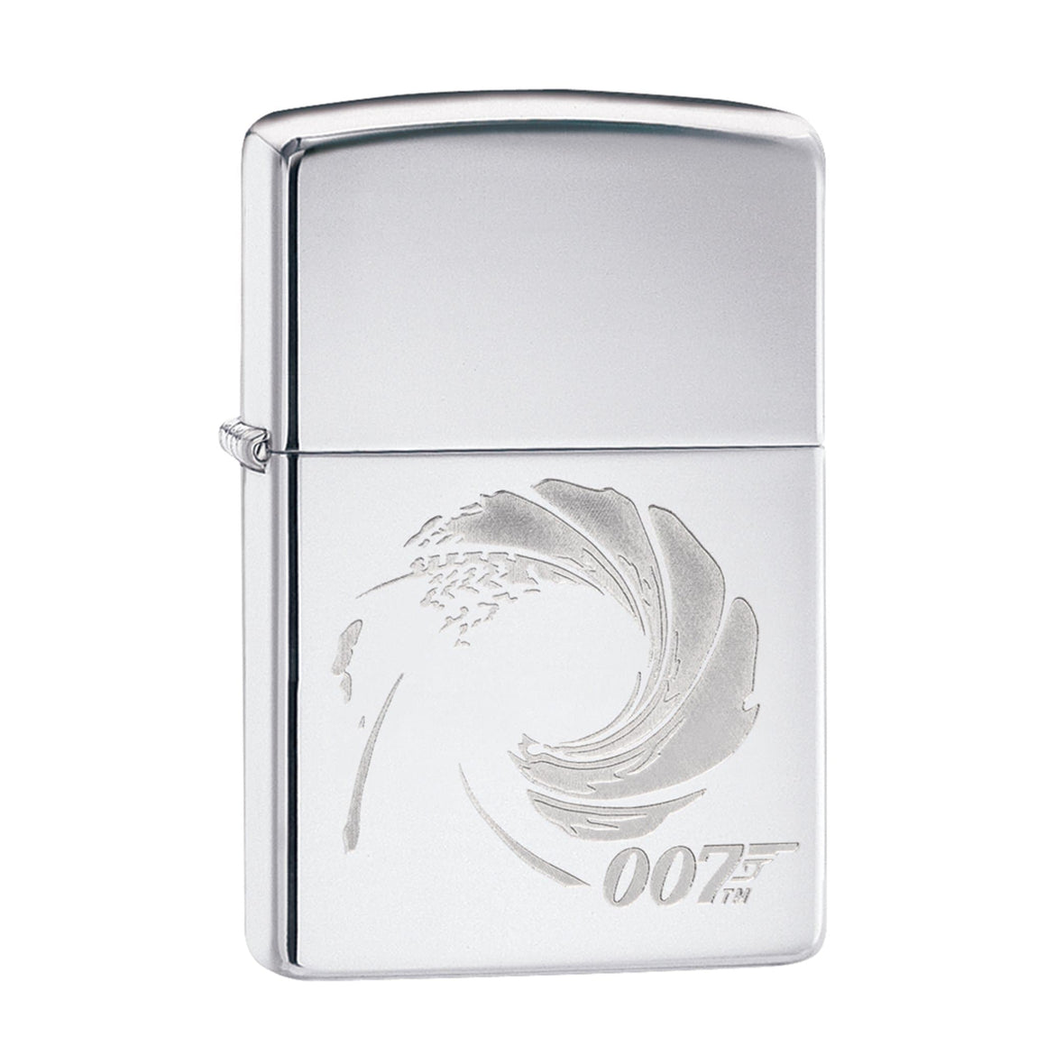 JAMES BOND ZIPPO LIGHTER (SILVER GUN BARREL)