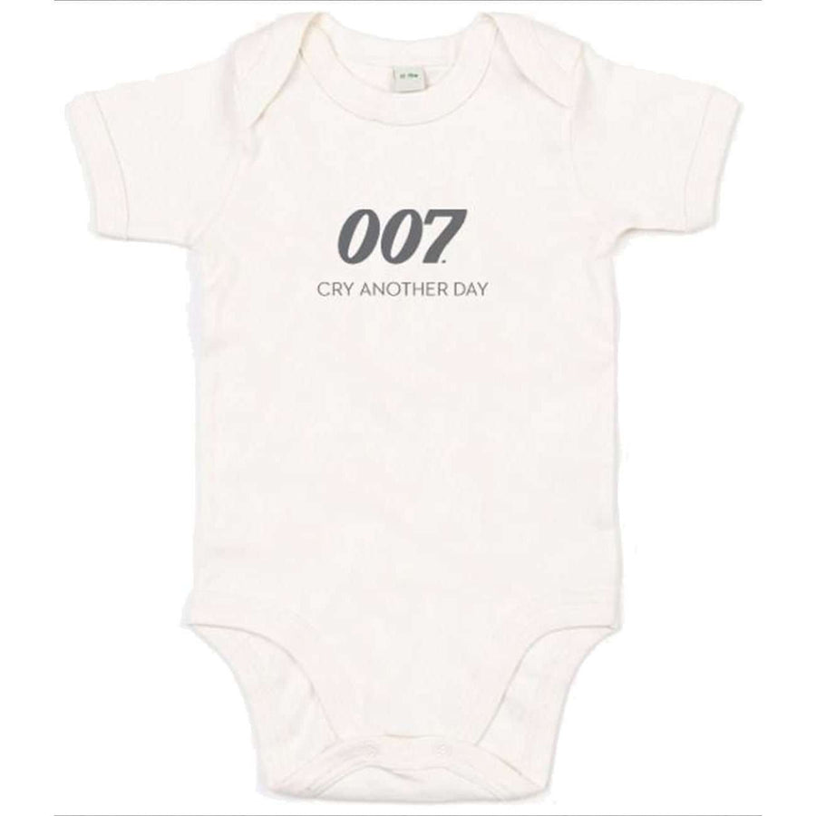 New Cry Another Day 007 Natural Baby Bodysuit  - 007STORE