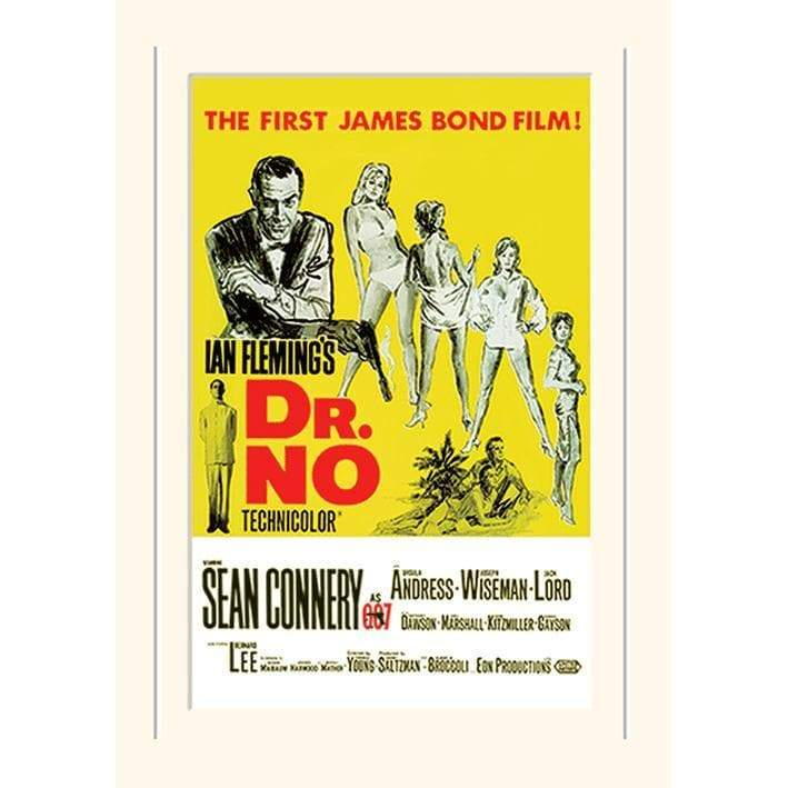 Dr. No (Yellow Portrait) 30 x 40cm Mounted Print - 007STORE