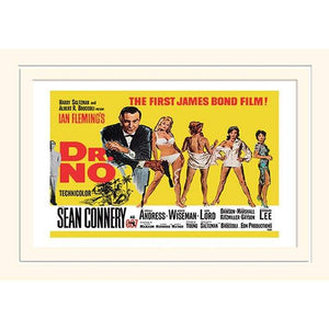 Dr. No (Yellow Landscape) 30 x 40cm Mounted Print l Official James Bond 007 Store