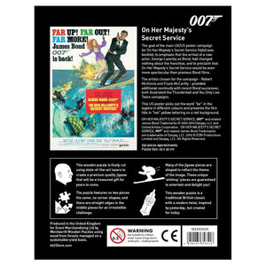 On Her Majesty's Secret Service Wooden Puzzle - Limited Edition