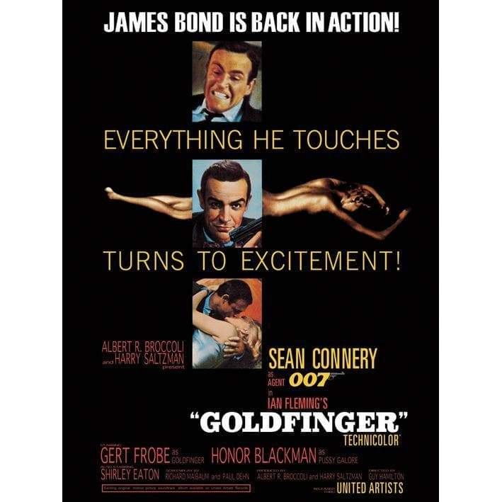 Goldfinger (Excitement) 85 X 120cm Canvas - 007STORE