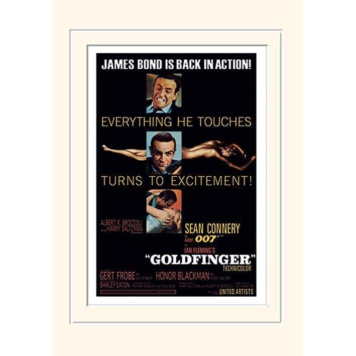 Goldfinger (Excitement) 30 X 40cm Mounted Print - 007STORE