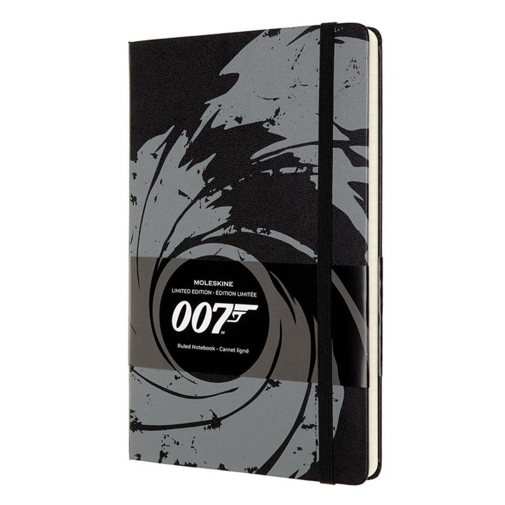 007 Black Gun Barrel Notebook By Moleskine Official James Bond 007 Store