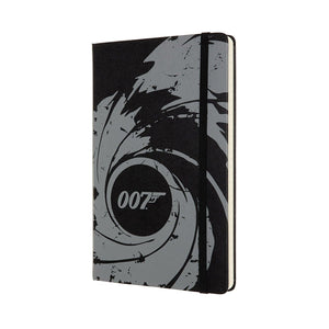 007 Black Gun Barrel Notebook By Moleskine - 007STORE