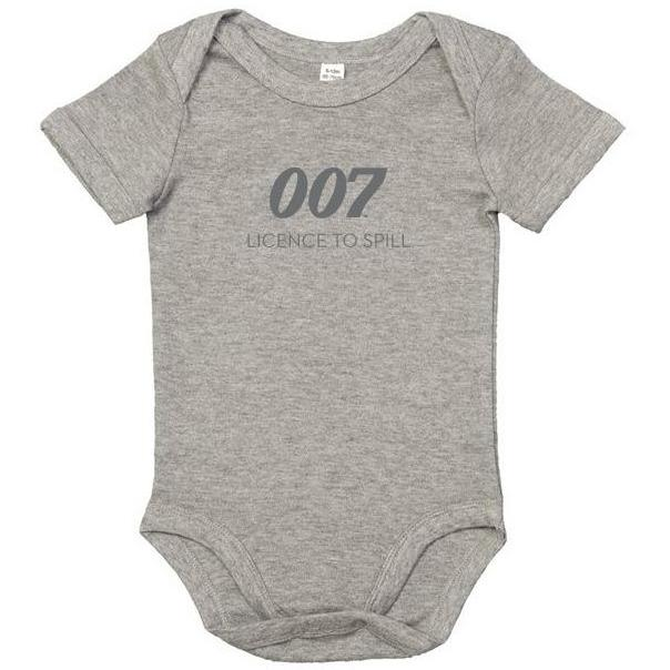 New Licence To Spill 007 Grey Marl Baby Bodysuit