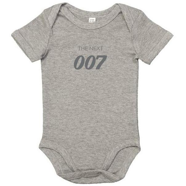 New The Next 007 Grey Marl Baby Bodysuit - 007STORE