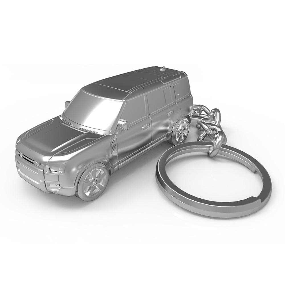 New Land Rover Defender 110 Car Keyring - No Time To Die Edition