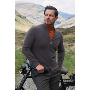Brown Cashmere Bomber Jacket l Official James Bond 007 Store
