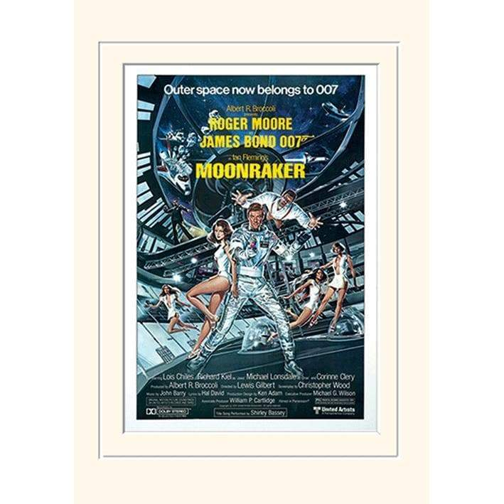 30 x 40cm MOUNTED PRINT - MOONRAKER