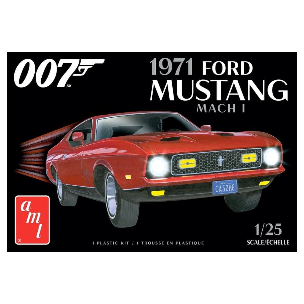James Bond 1971 Ford Mustang Car Model Kit - Diamonds Are Forever Edition - By AMT (Pre-order))