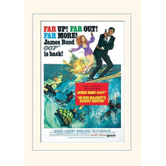 30 x 40cm MOUNTED PRINT - ON HER MAJESTY'S SECRET SERVICE