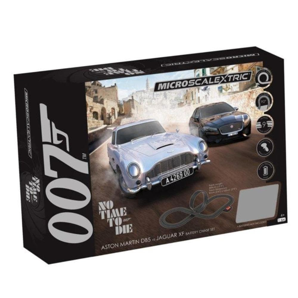 James Bond Micro Scalextric Race Set - No Time To Die Edition -  By Scalextric (Pre-order) - 007STORE