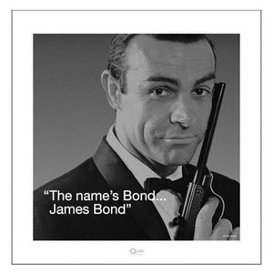 JAMES BOND (QUOTE) 40 x 40CM ART PRINT