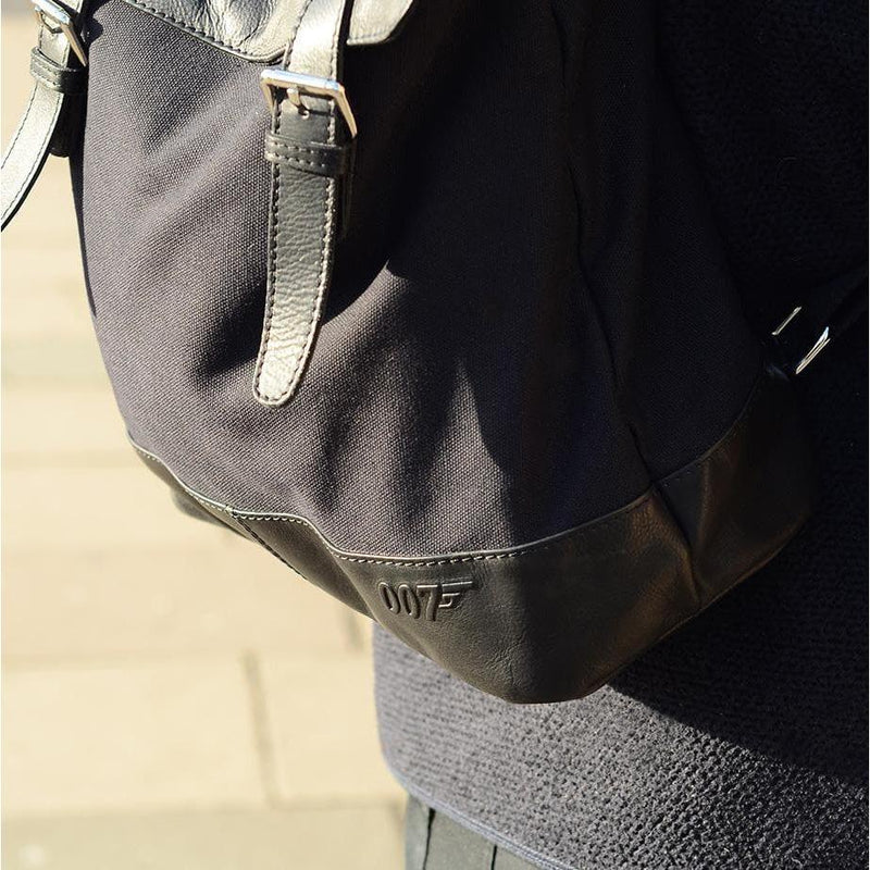 007 Nappa Leather & Canvas Backpack - 007STORE