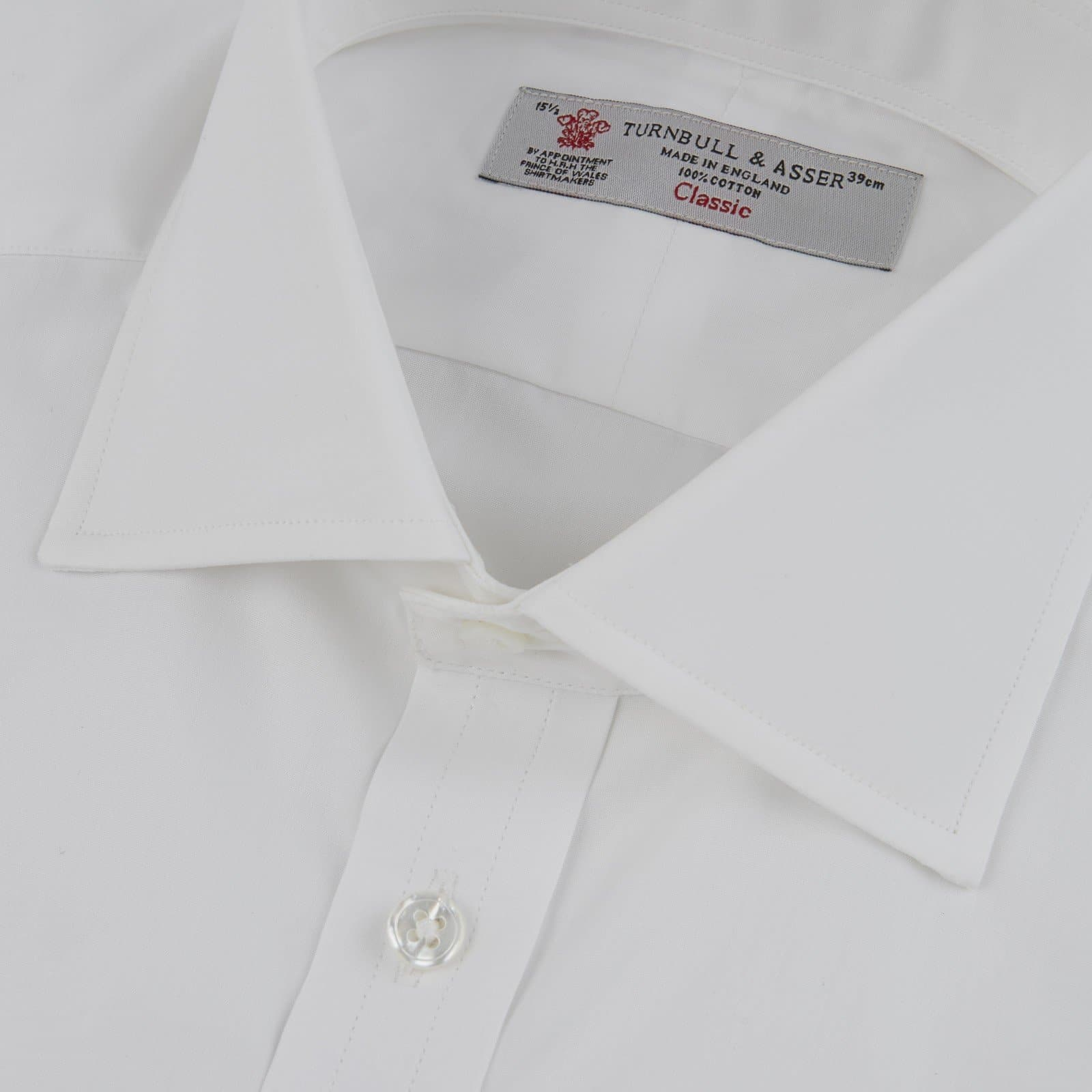 White Cotton Shirt by Turnbull & Asser - Dr. No Edition - 007STORE