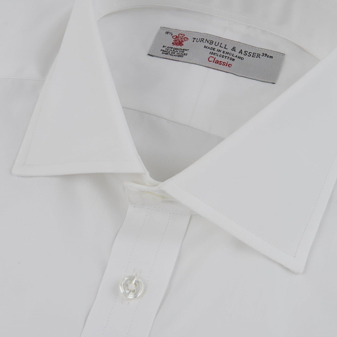 White Cotton Shirt by Turnbull & Asser - Dr. No Edition