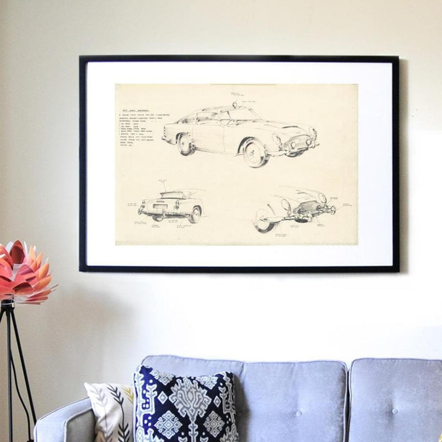 Ken Adam Goldfinger DB5 Art Print - Numbered Edition (Unframed) - 007STORE
