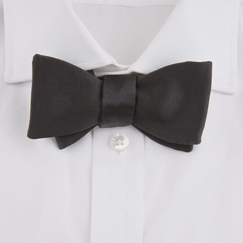 Black Silk Bow Tie By Turnbull & Asser - Casino Royale Edition - 007STORE