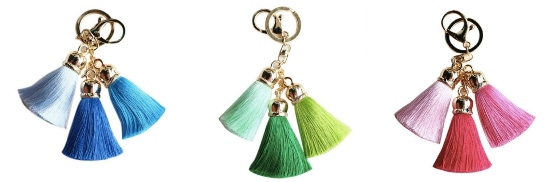 100% SILK TASSEL KEY CHAIN/BAG CHARM